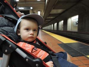 Esperando o metro!